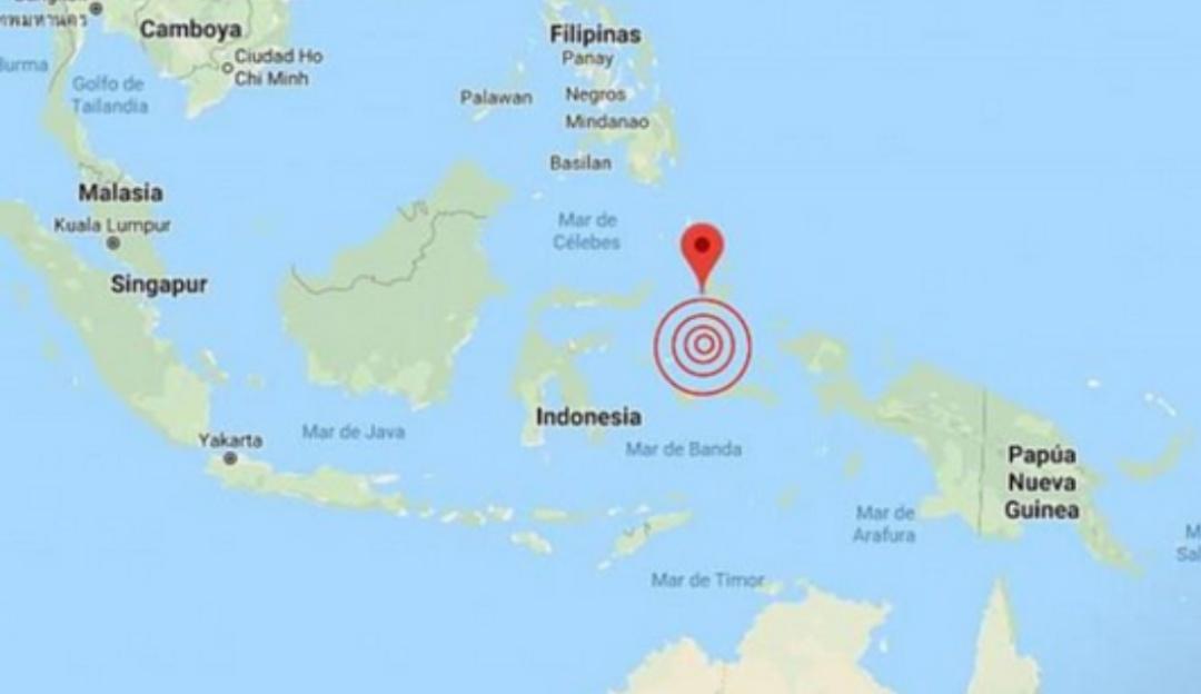 Activan alerta de tsunami tras sismo de 6.9 en las costas de Indonesia