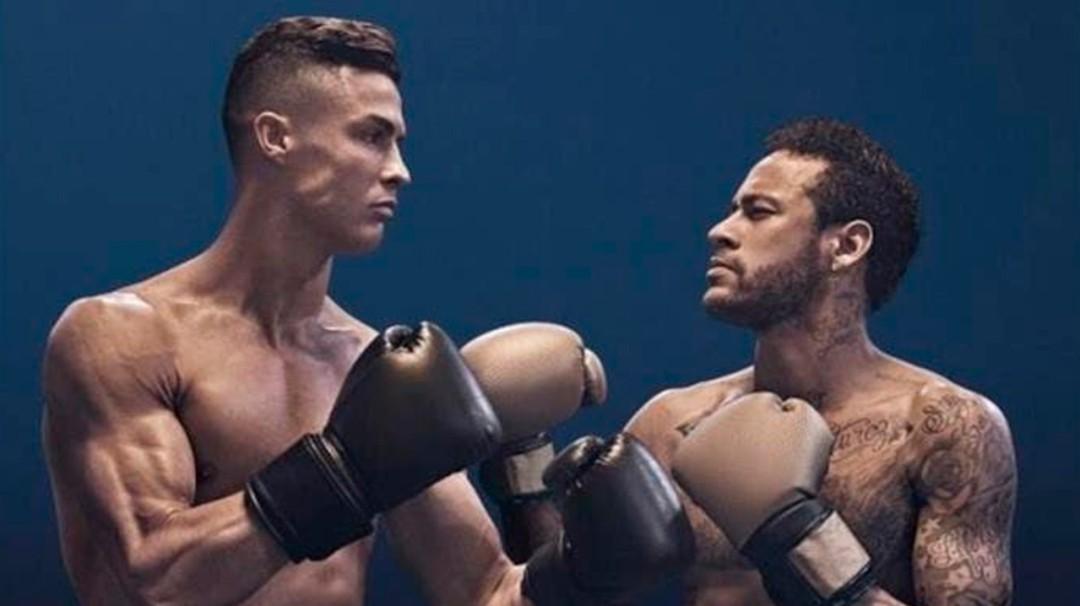 Cristiano Ronaldo y Neymar protagonizan pelea de box