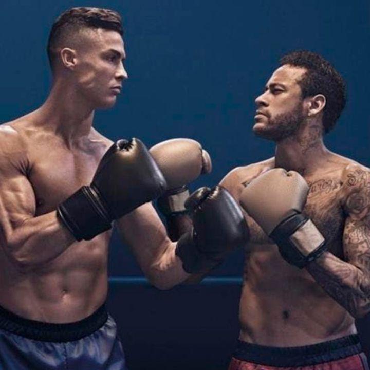 CR7 y Neymar Jr. Protagonizaron una pelea de Box arriba del Ring