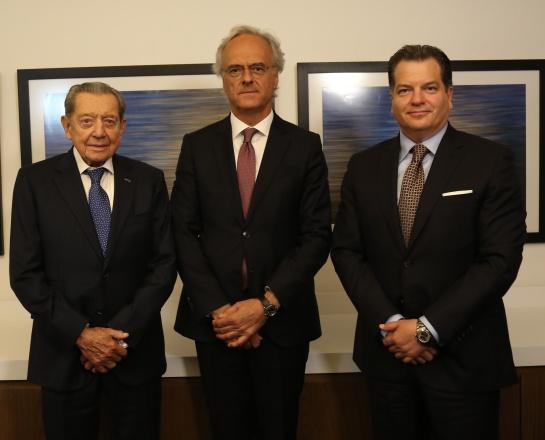 Miguel Alemán Velasco, Pedro García Guillén, Miguel Alemán Magnani