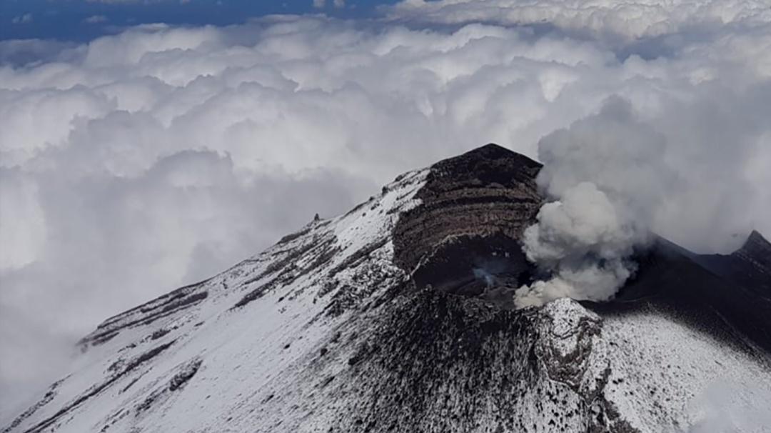 Cambios en el Popocatépetl; así descubrieron nuevo domo en sobrevuelo