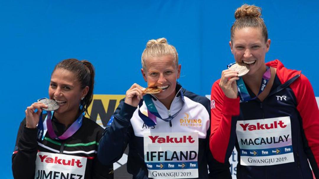Adriana Jiménez se lleva la plata en el Mundial de Natación