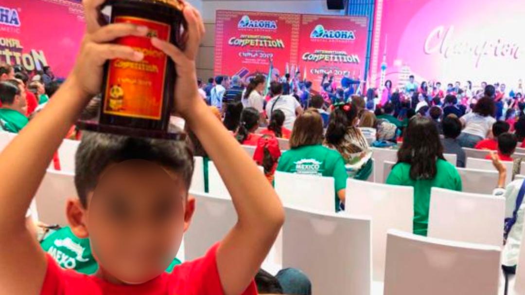 Pequeño genio; niño de ocho años gana Copa Champions en cálculo mental