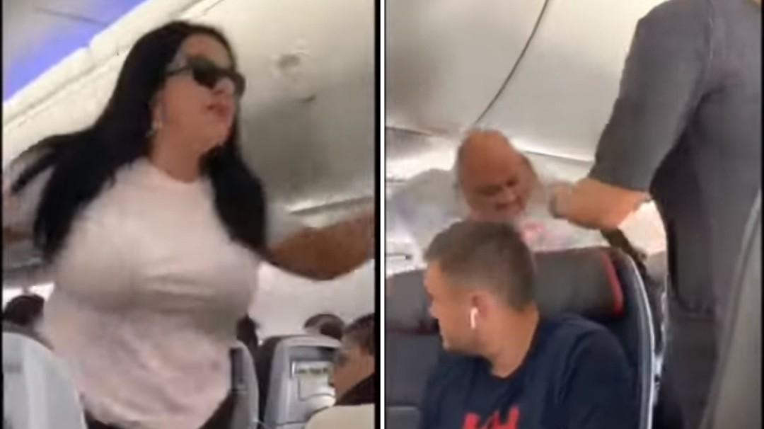 Tomó vuelo y golpea a su novio por ver a otras mujeres