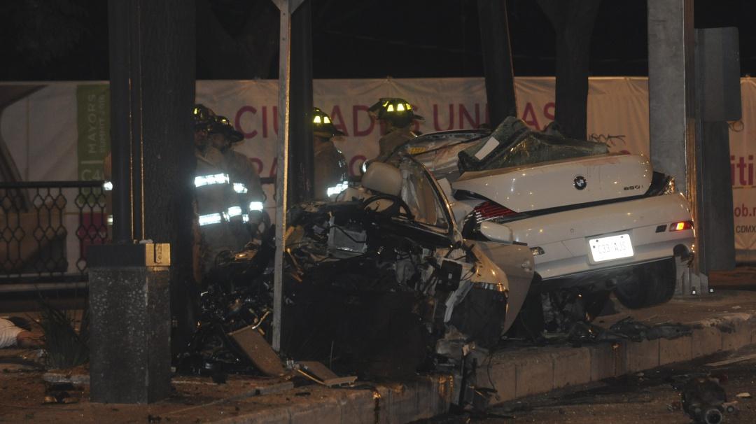 Dan libertad condicional a conductor de BMW que chocó en Reforma