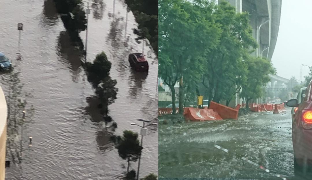 Tláloc sigue enojado; tras fuerte tormenta Santa Fe queda inundada