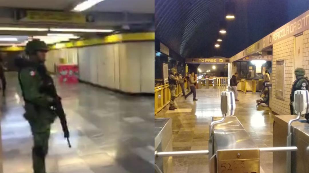 Sorprende la presencia de la Guardia Nacional en el Metro de la CDMX