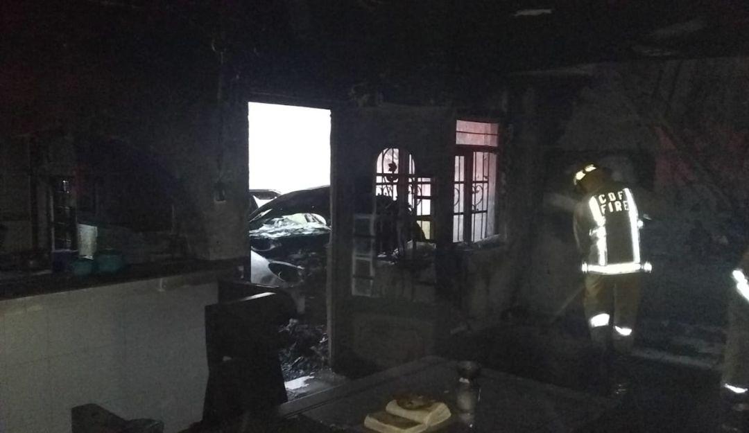 Se incendia casa en Tonalá