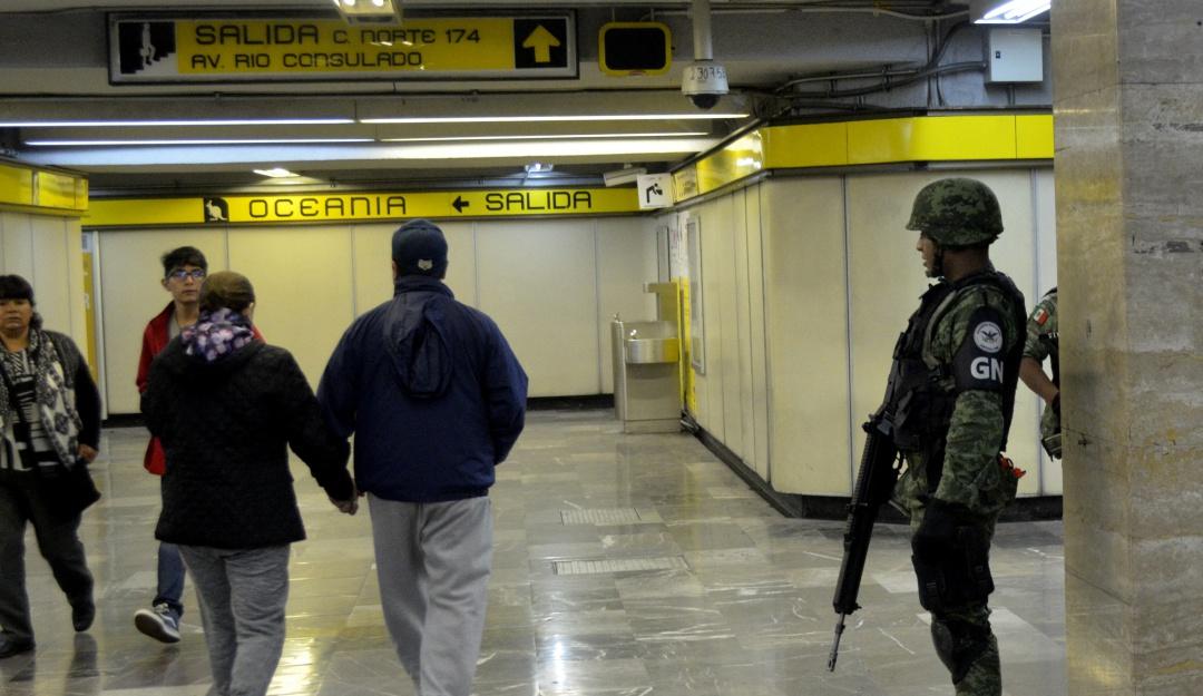 Llega la Guardia Nacional al Metro… no será permanente: Sheinbaum