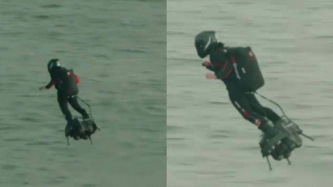 """El """"hombre volador"""" logra en su segundo intento cruzar canal de la Mancha"""