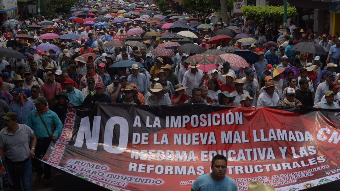 CNTE podría controlar plazas: Marco Fernández