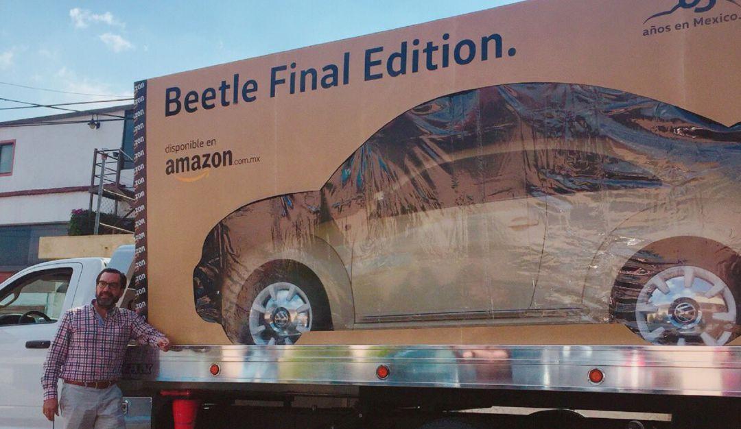 En caja por favor; así reciben al primer Beetle vendido por Amazon