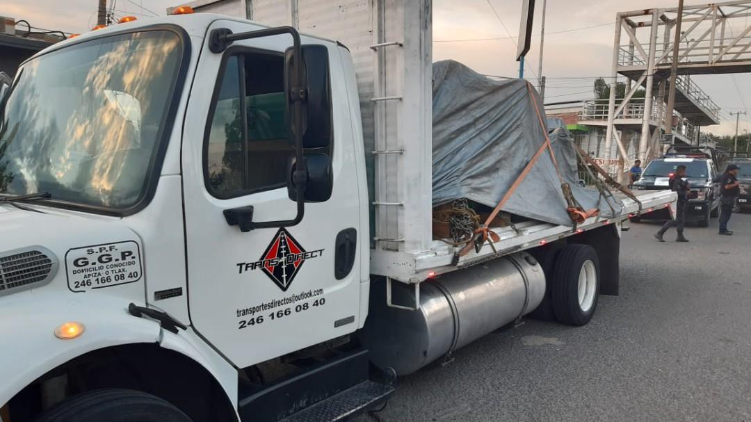 Roban camión con 11 toneladas de cobre en la Duraznera