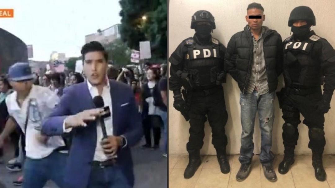 Así fue la detención al agresor del periodista Juan Manuel Jiménez