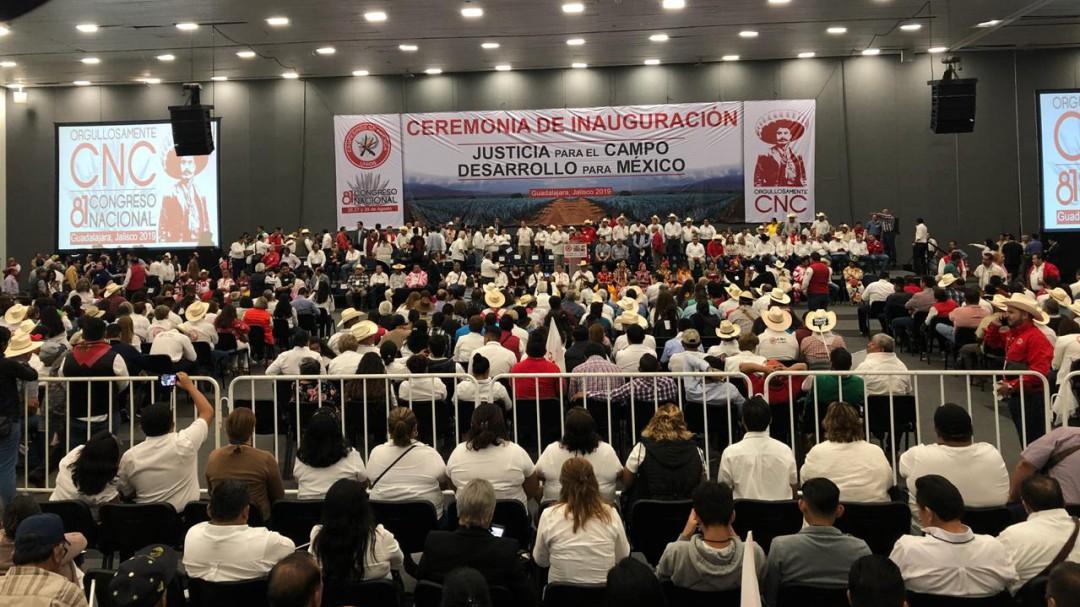 Confederación Nacional Campesina pide presupuesto, no asistencialismo