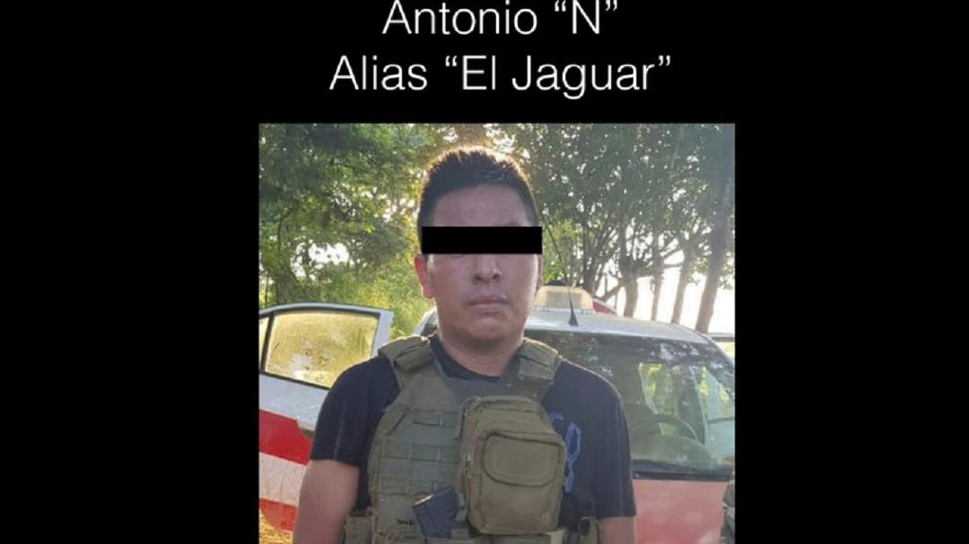 """Capturan al """"El Jaguar"""", jefe de plaza del CJNG en Coatzacoalcos"""
