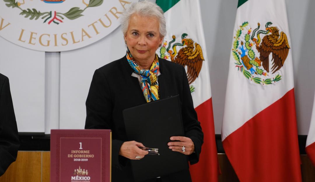 Olga Sánchez Cordero entrega 1er informe de AMLO al Congreso