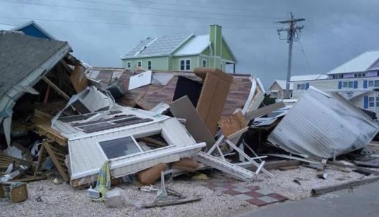Casa destruida por Dorian en Carolina del Norte, Estados Unidos