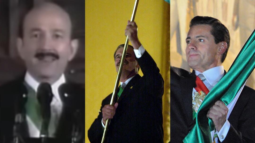 Así dieron El Grito los últimos presidentes de México