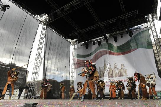 Desde la tarde los asistentes podían disfrutar de los diversos bailes regionales en el Zócalo de la CDMX