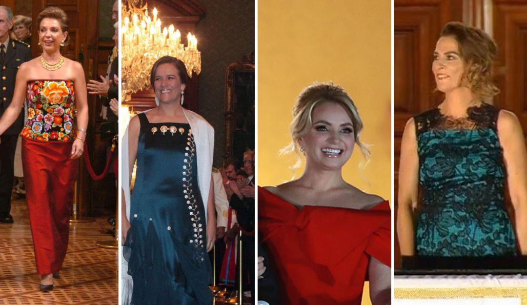 Los vestidos de las Primeras Damas en el Grito de la Independencia