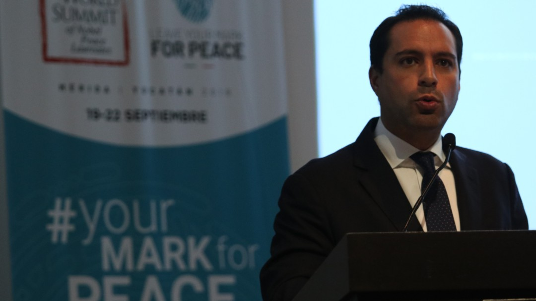 Seguridad especial en Cumbre de los Nobel de la Paz: Gobernador de Yucatán