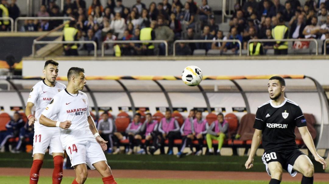 """El """"Chicharito"""" marcó un golazo en la Europa League"""