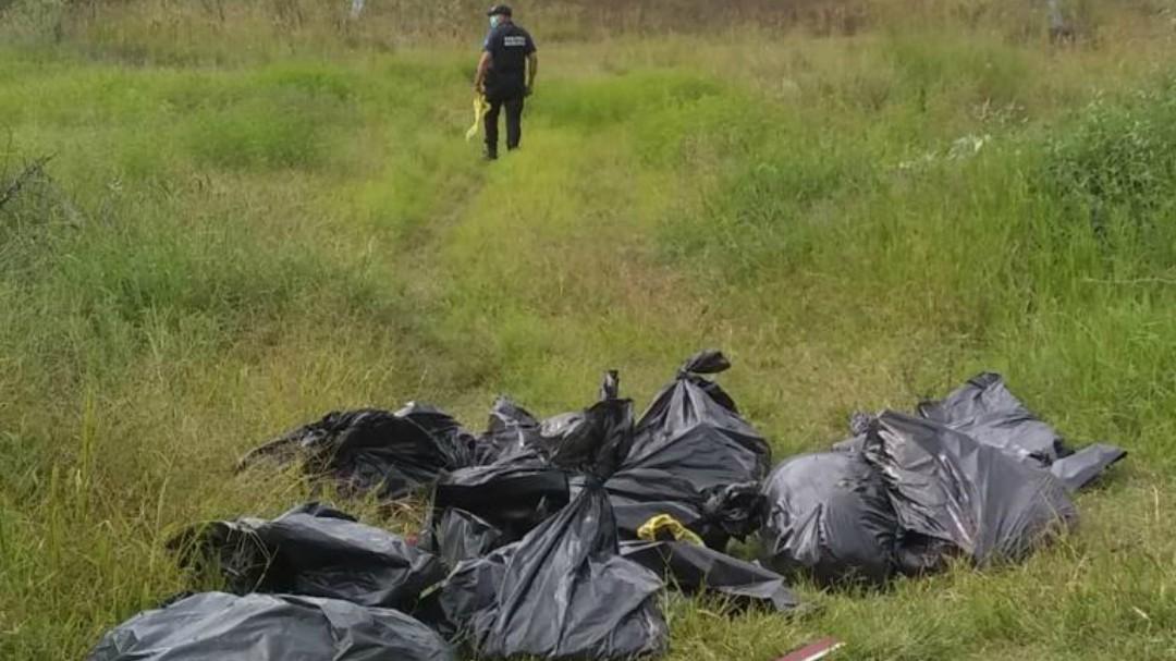Localizan más bolsas con restos humanos
