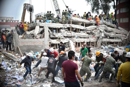El terremoto dejó daños principalmente en las alcaldías Gustavo A. Madero, Cuauhtémoc, Benito Juárez, Coyoacán, Iztapalapa, Xochimilco y Álvaro Obregón