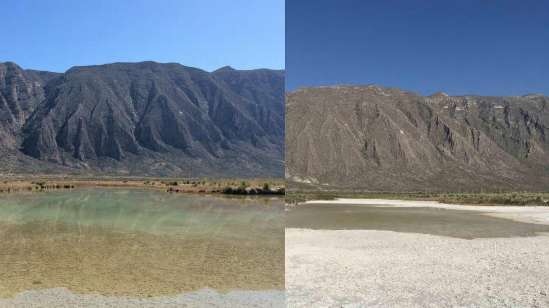 Las imágenes de Cuatrociénegas que muestran cómo se está secando el valle
