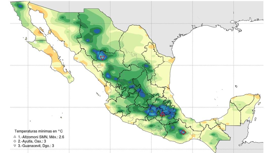 Llega el primer frente frío a México; así estará la temporada