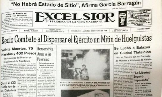 Ocuparon dos fotos para ilustrar la portada, una de un granadero disparando granadas de gas lacrimógeno y la otra de un camión ardiendo en fuego