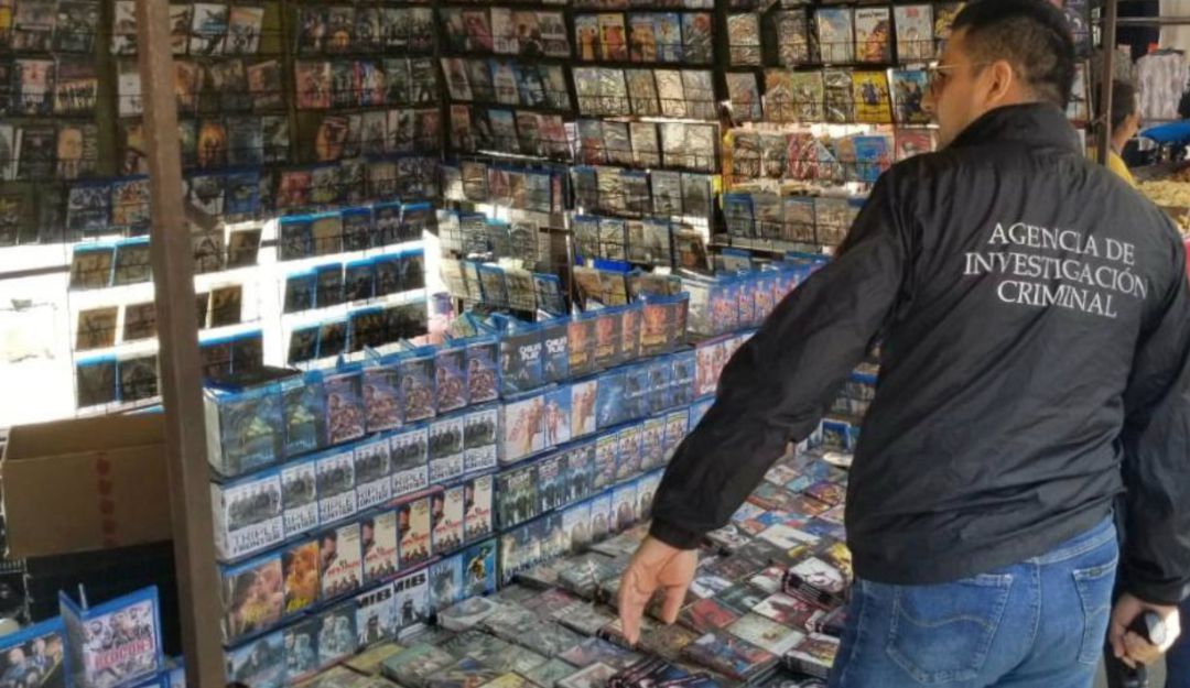 Decomisan 28 mil discos pirata tras operativo en Guadalajara