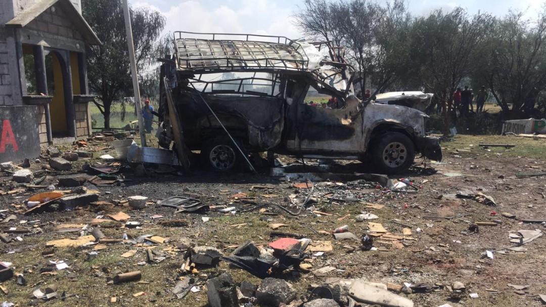 Explosión de polvorín deja dos muertos en Zumpango