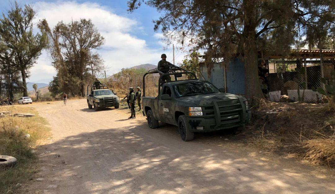Militares incautan armas en Sayula