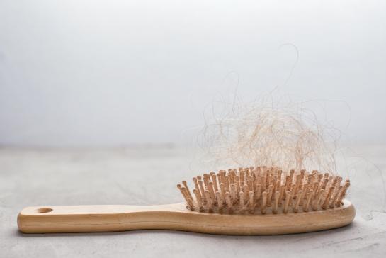 Esto se atribuye al daño en los folículos que podría causar el estrés, además provoca que el cabello entre en la fase catágena
