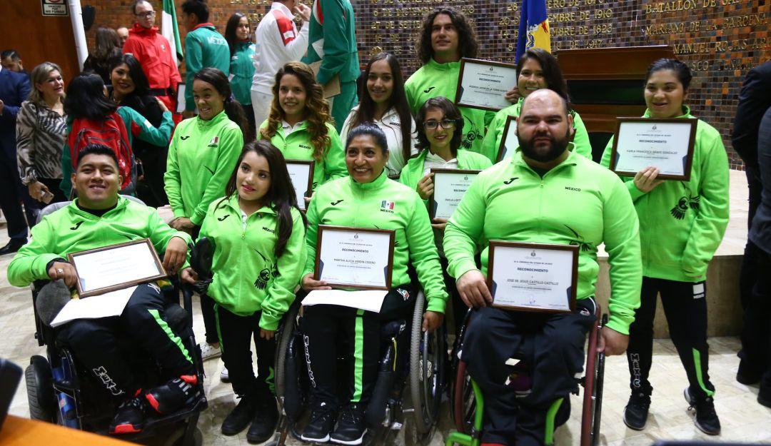 Diputados reconocen a atletas jaliscienses de Juegos Parapanemircanos
