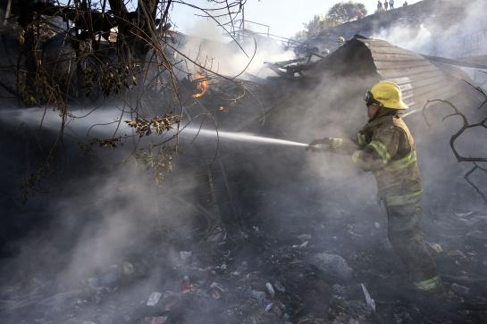 Las llamas consumieron más de 6 mil hectáreas de Ensenada, Baja California