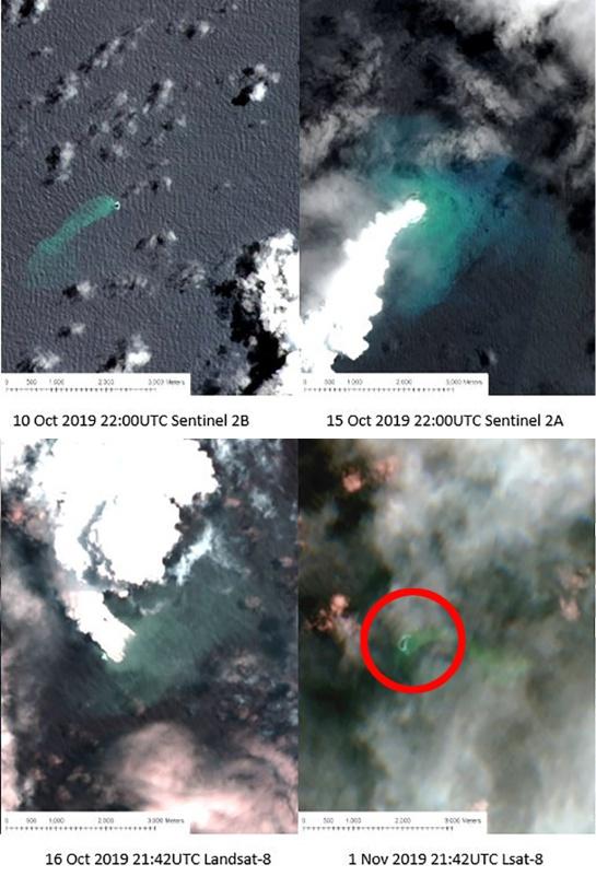 Surgimiento de la nueva isla en el archipiélago de Tonga tras una erupción volcánica en el Océano Pacífico