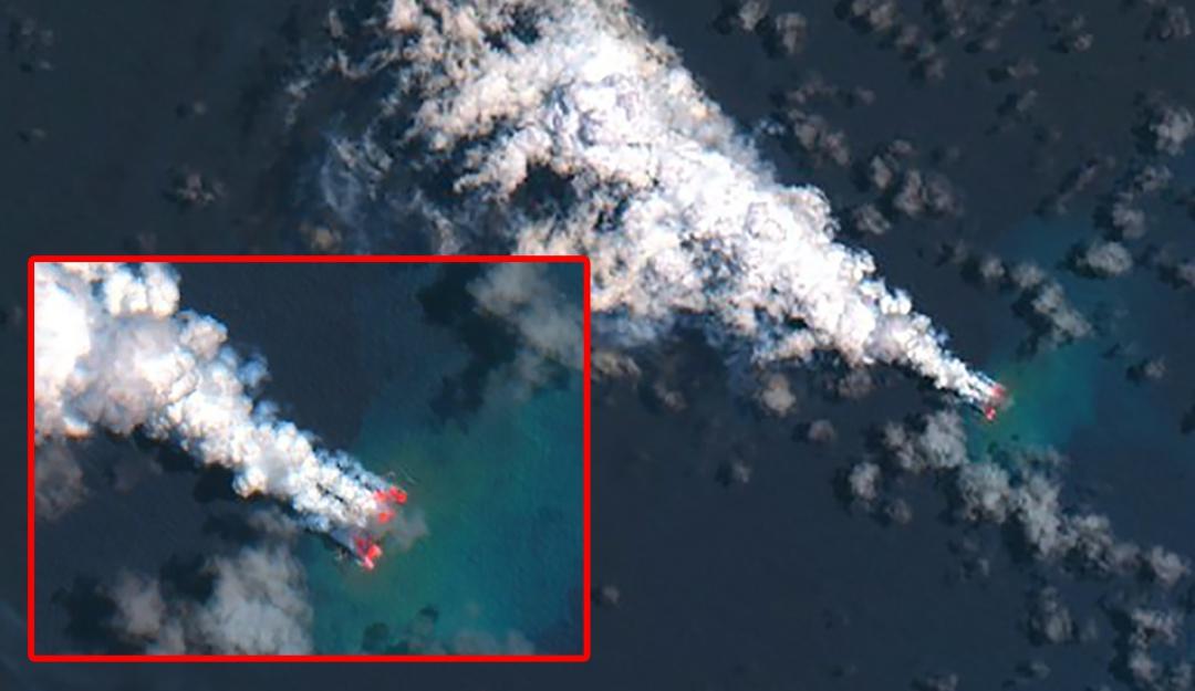 Erupción volcánica crea una nueva isla en nuestro planeta