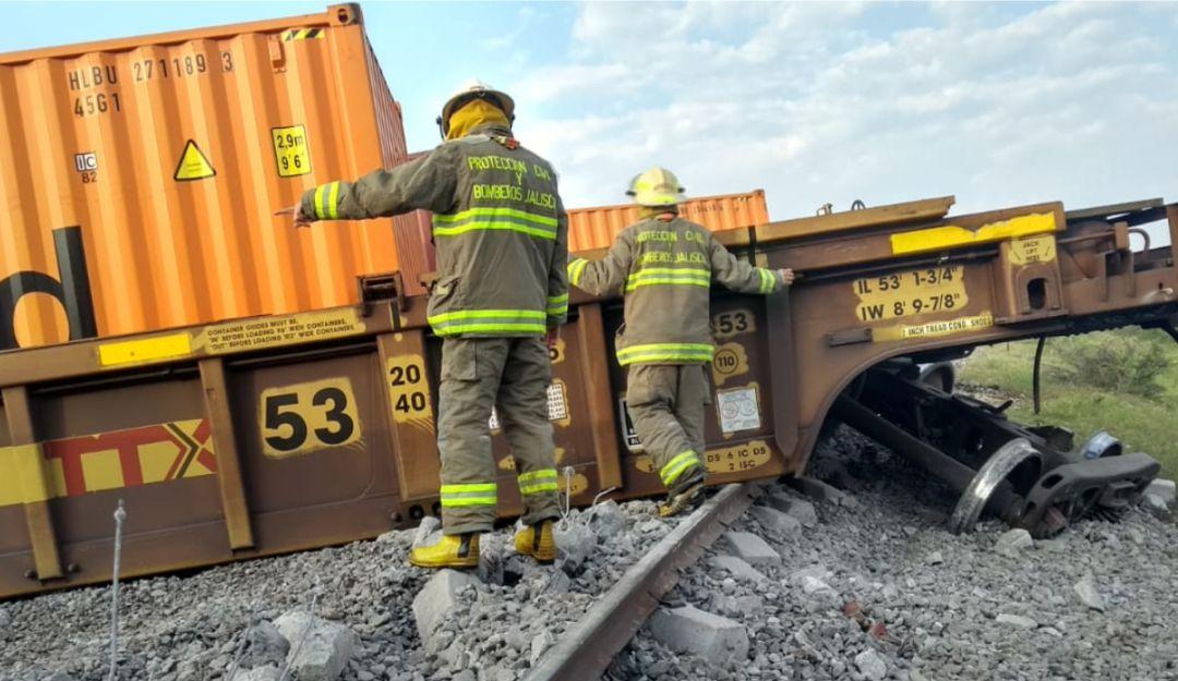 Descarrilla ferrocarril en Poncitlán