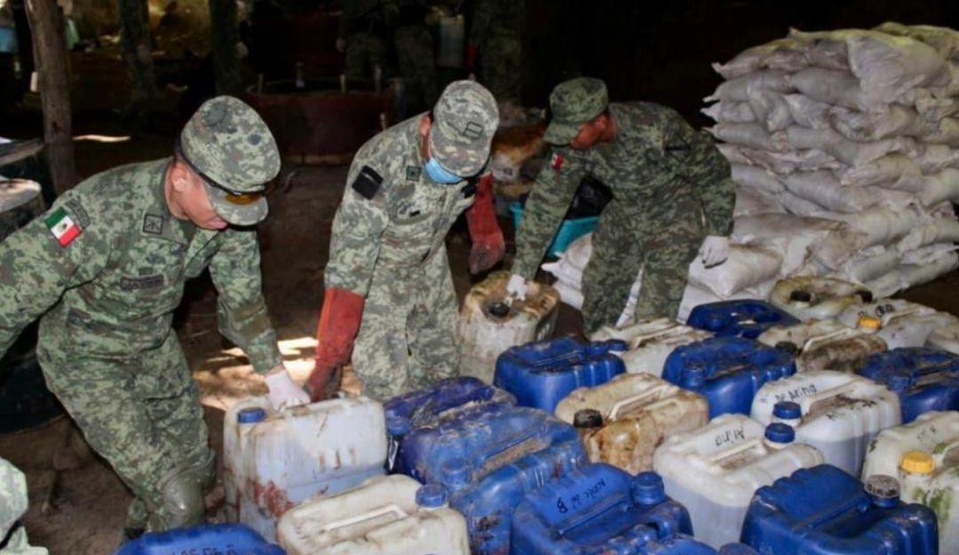Ejército Mexicano desmantela laboratorio de droga