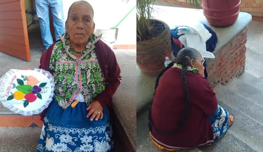 Ayudan a promover las servilletas bordadas de artesana por redes sociales
