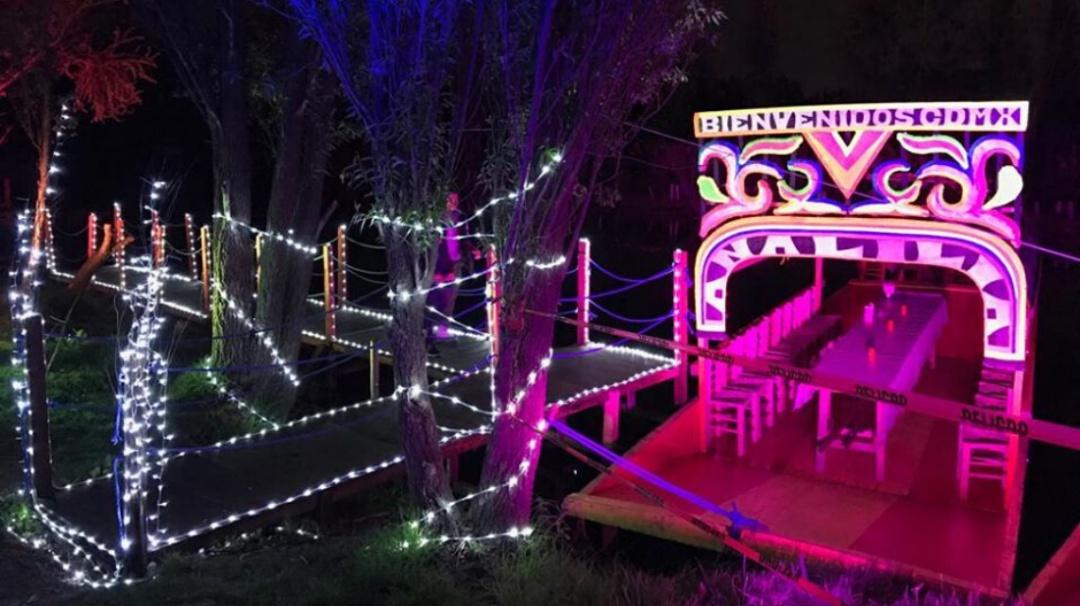 Xochimilco y su Mágica Nochebuena 2019 con una villa iluminada