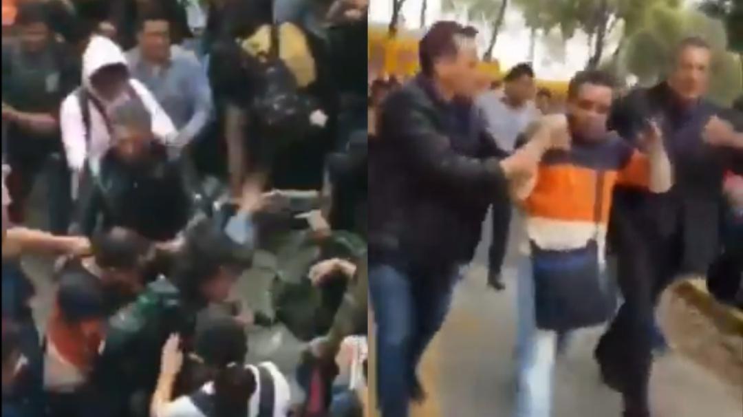 Alumnos del CCH Azcapotzalco corren a profesor entre abucheos y golpes