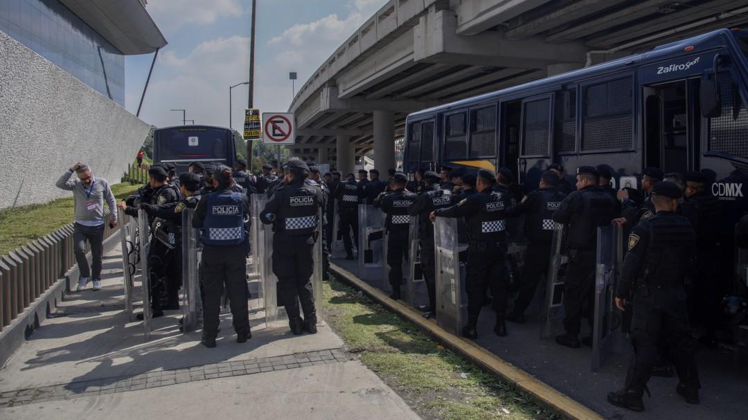 Vigilan San Lázaro y Expo Santa Fe donde diputados discuten Presupuesto