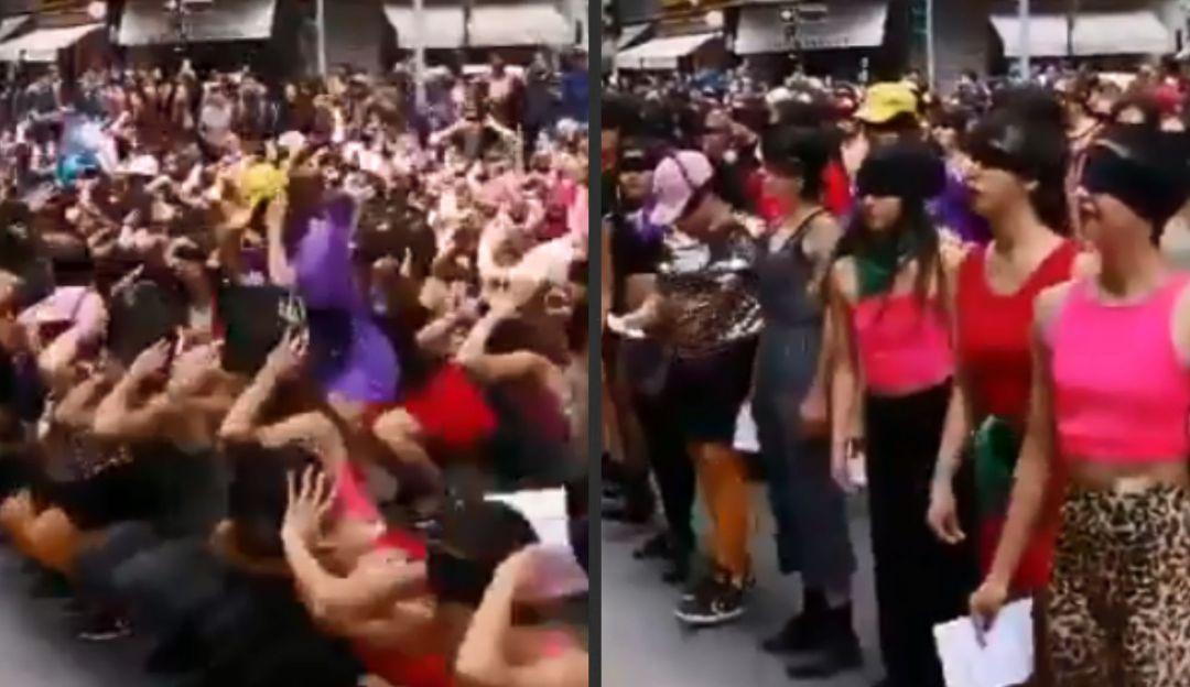 Así protestaron las mujeres de Chile con canción y coreografía