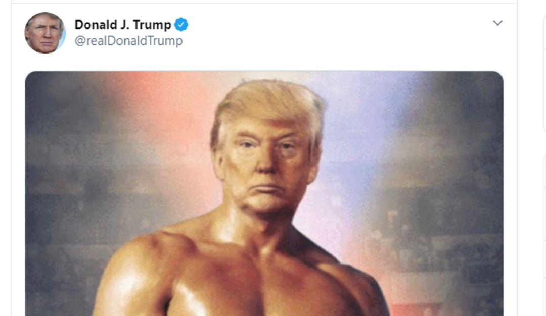 Donald Trump tuitea al estilo Rocky y seguidores le responden con memes