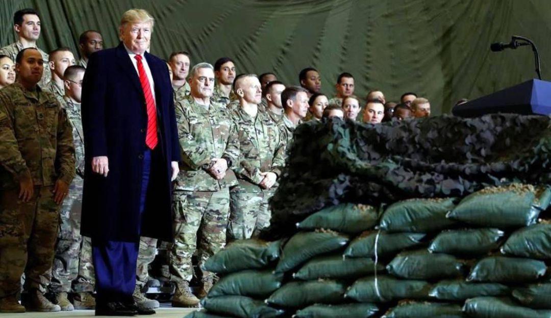 Visita Trump a soldados en Afganistán