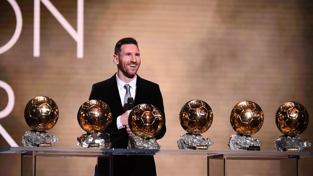 Lionel Messi se llevó su sexto Balón de Oro